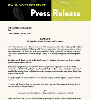 Media Press Release Template. Press Release Sample. Media Pack ...